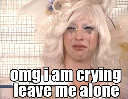 omg crying blonde chick leave me alone image macro