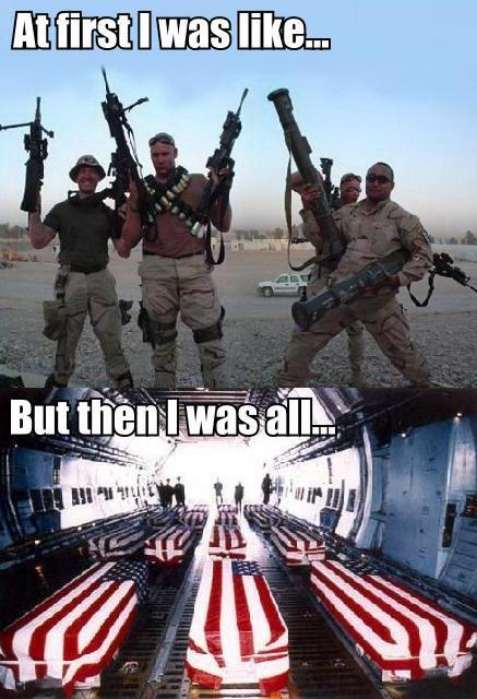 at first iraq war us military image macro