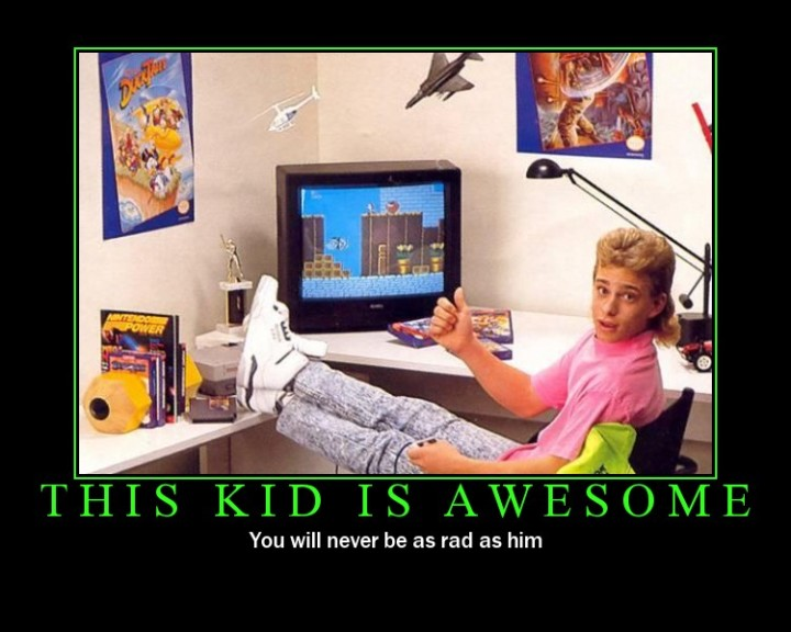 awesome kid rad mullet image macro