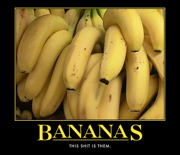 bananas shit image macro