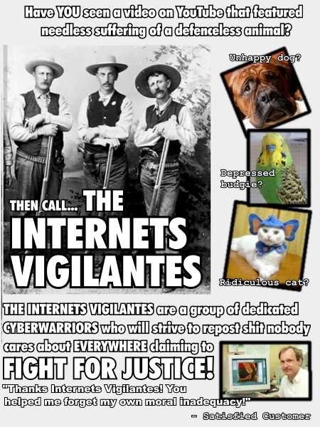 internet vigilantes animal cruelty you tube cyberwarriors image macro