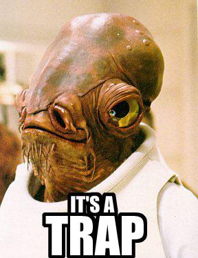 it's a trap admiral ackbar jedi image macro