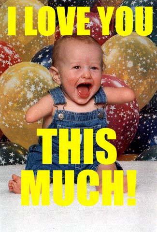 i love you this much baby no arms balloons image macro