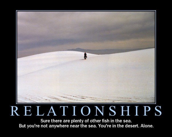 relationships desert alone loneliness image macro