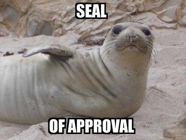 seal of approval win image macro