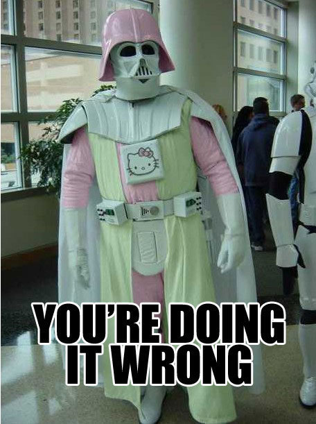 doing it wrong stormtrooper hello kitty image macro