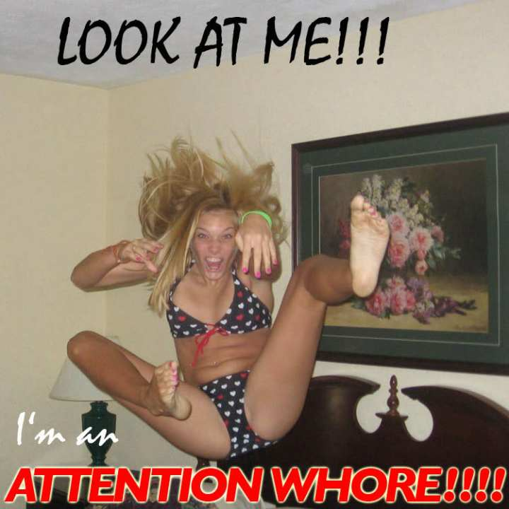 look attention whore blonde bikini image macro