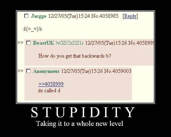 backwards b d stupidity image macro