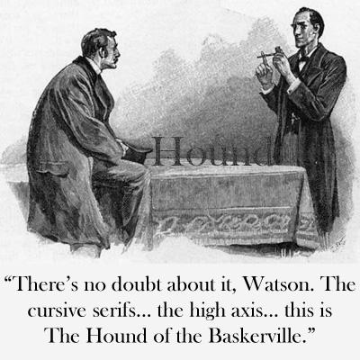 hound baskerville font sherlock holmes engraving typeface image macro