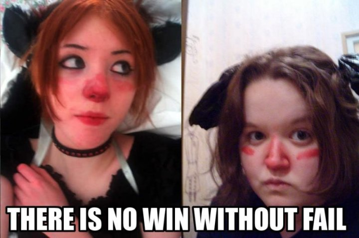 girls halloween costumes red nose ears cute fugly image macro