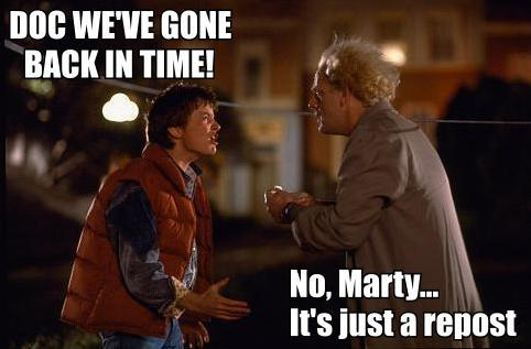 back to the future repost image macro