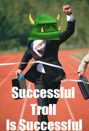 successful troll success win trolling race finish line image macro