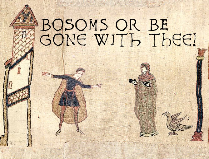 tits or gtfo get the fuck out medieval bayeux tapestry image macro