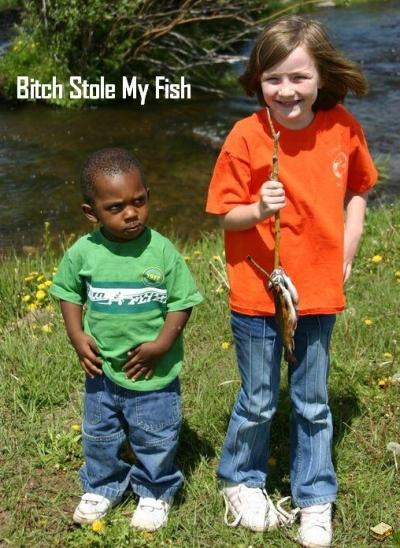 bitch stole fish kids image macro