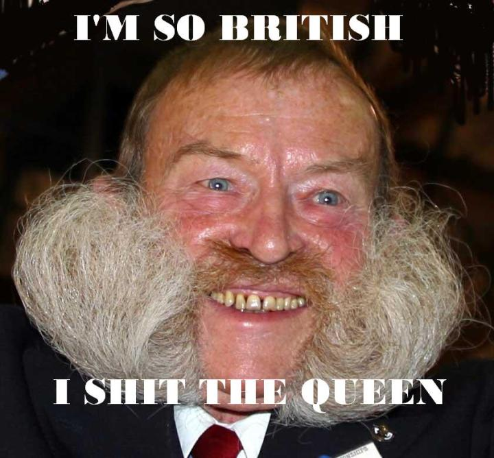 im so british shit queen man with huge moustache whiskers image macro