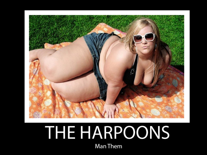 man the harpoons obesity fat chick thyroid problem image macro