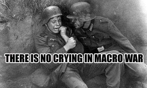 no crying macro war soldiers military fear image macro