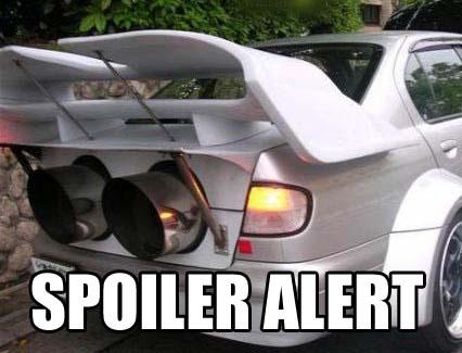 spoiler alert car automobile image macro