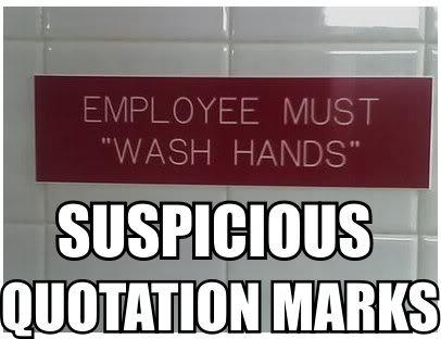 employee wash hands bathroom sign suspicious image macro