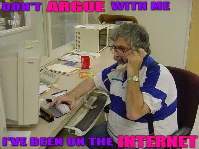 dont argue argument internet phone office image macro