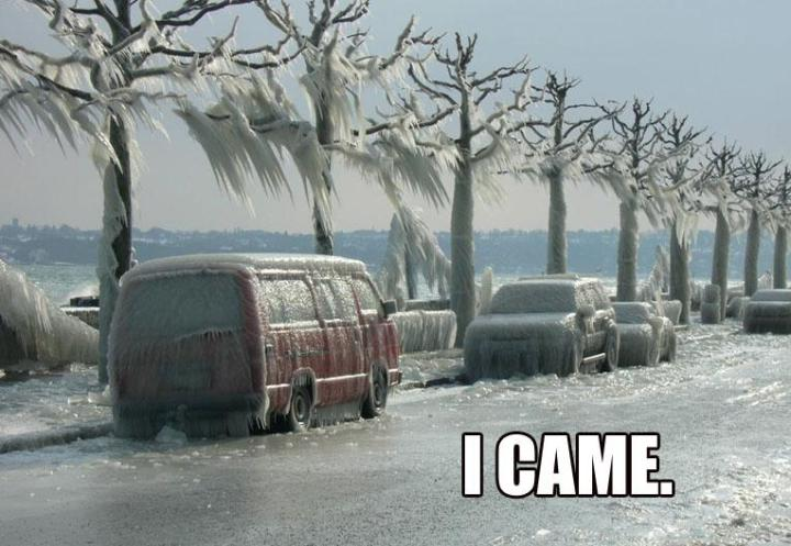 i came meme trees street ice icicles frozen image macro
