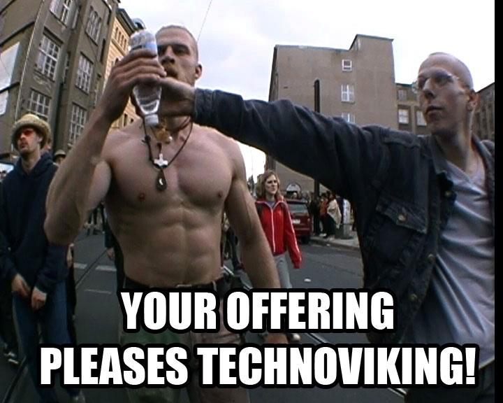 your offering pleases kitty technoviking image macro