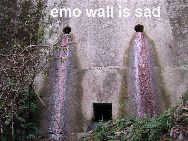 emo wall crying sad image macro
