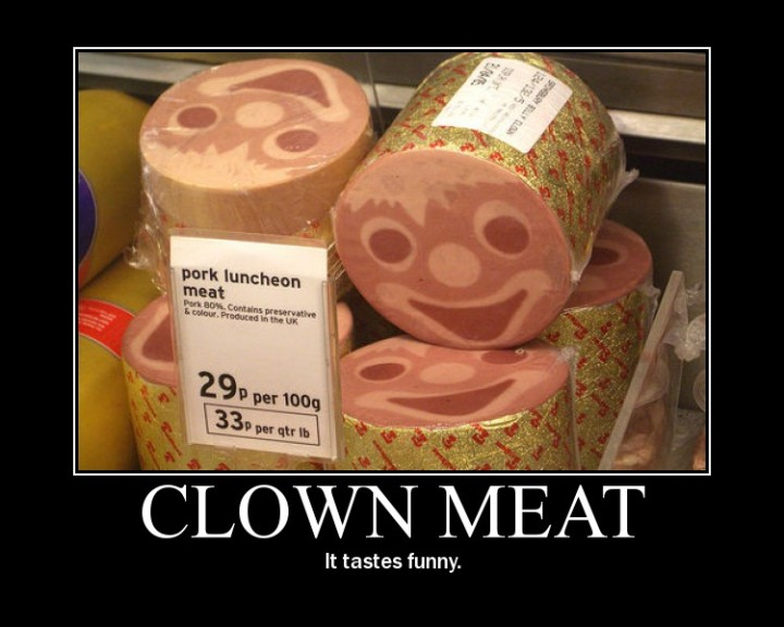 clown meat luncheon meat spam face funny image macro