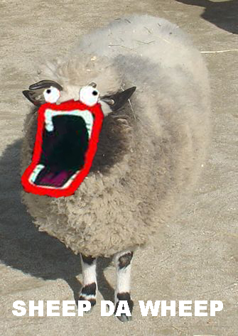 sheep shoop da whoop meme pun image macro