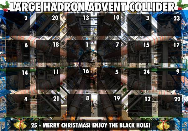 advent calendar large hadron collider science christmas xmas image macro