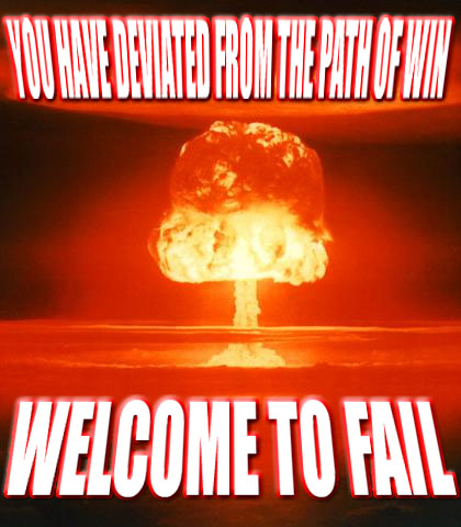 fire ball explosion nuclear mushroom welcome to fail path of win image macro