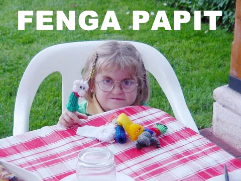finga fenga papit pappit finger puppet little girl kid retarded image macro