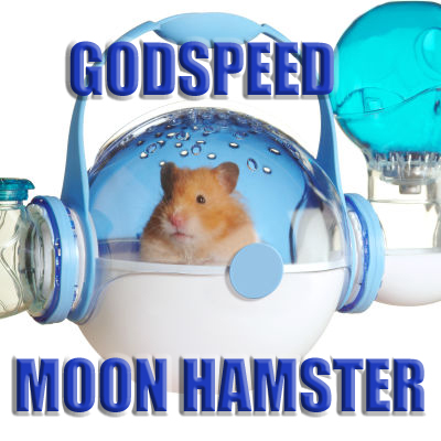godspeed moon hamster cat astronaut image macro