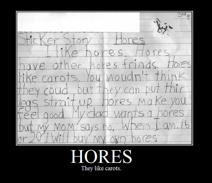 hores like carots horses carrots kids story writing school essay image macro