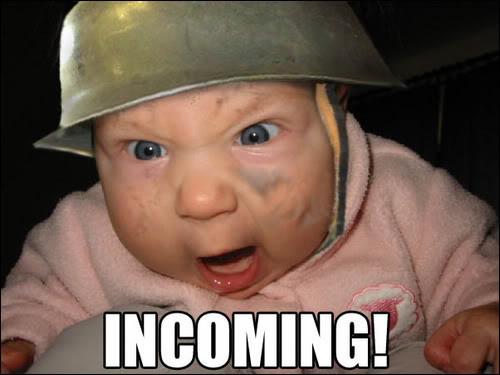 soldier helmet baby angry evil baby meme image macro