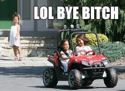 kid crying toy car jeep laughing little girls image macro