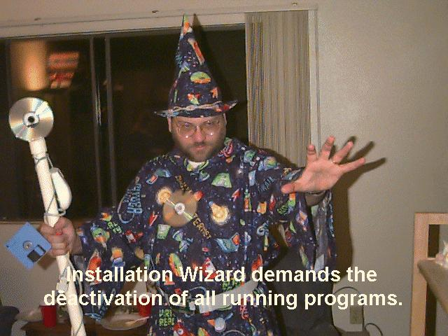 microsoft windows installation wizard magic image macro