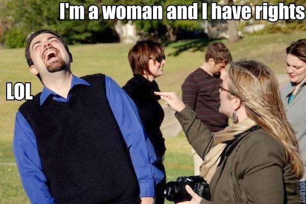 womens lib rights lol pointy finger sexist image macro