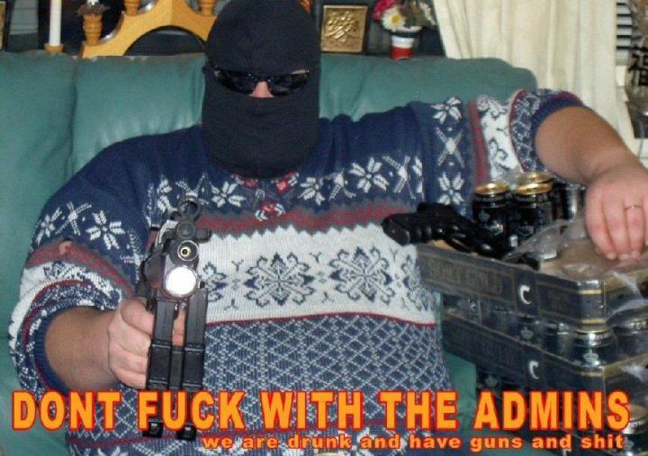 admins mods forum guns balaclava hood internets image macro