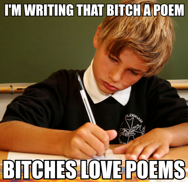 chicks girls love poems poetry image macro