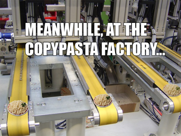 copypasta factory industry meme image macro