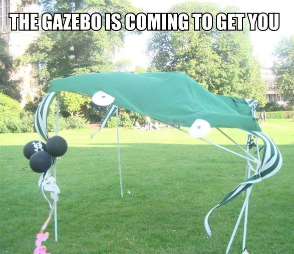 you have angered the gazebo meme coming to get you image macro