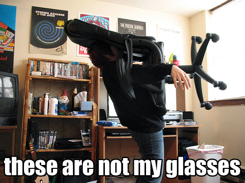 meme not my glasses office chair dumb image macro