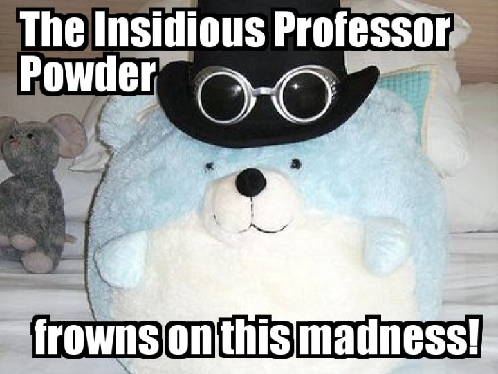 blue and white soft toy plush bear top hat glasses shenanigans image macro