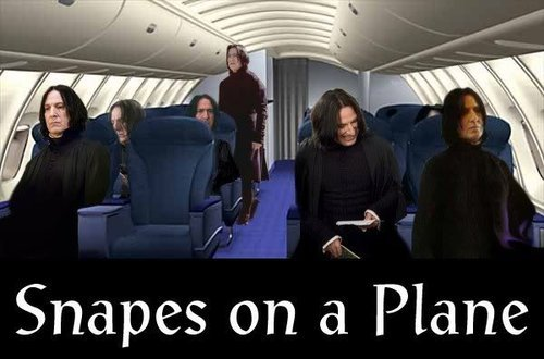 harry potter snape snakes on a plane movie image macro