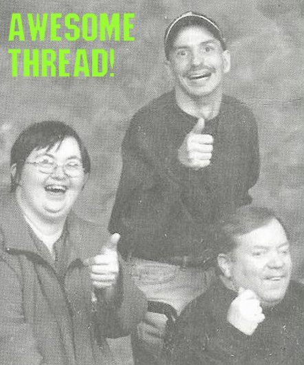 retarded people thumbs up approval awesomeness image macro