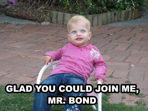 creepy kid james bond baddie villain movie image macro