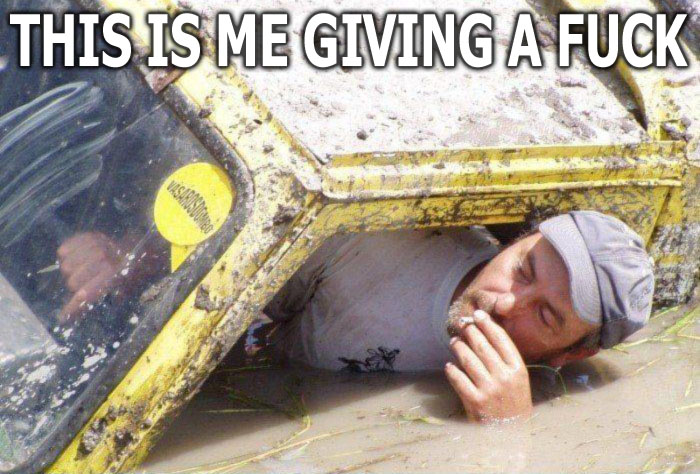 man smoking submerged sunk underwater flood truck image macro
