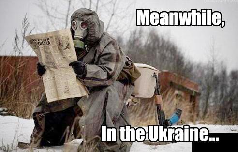 ukraine gun gasmask toilet meanwhile meme image macro