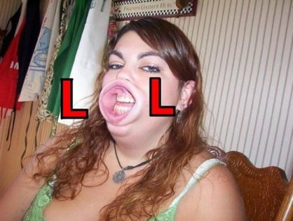 lolface fat chick lol mouth image macro